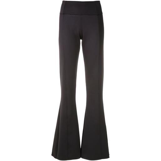 Amir Slama pantaloni svasati con design a pannelli - nero