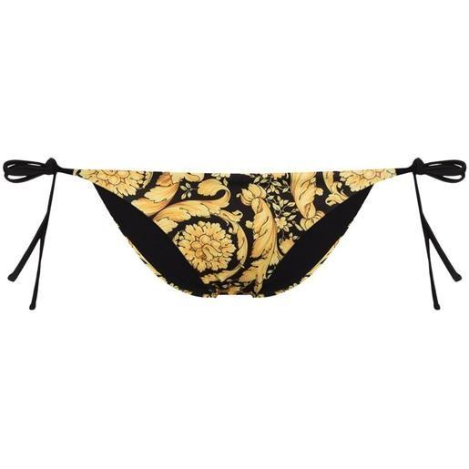 Versace slip bikini con stampa - nero
