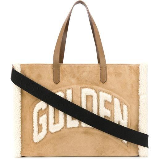 Golden Goose borsa tote con logo - toni neutri