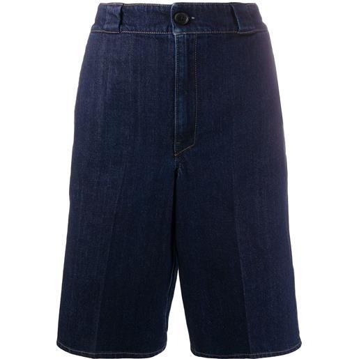 Prada shorts denim al ginocchio - blu