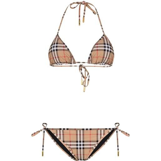 Burberry bikini a quadri - marrone
