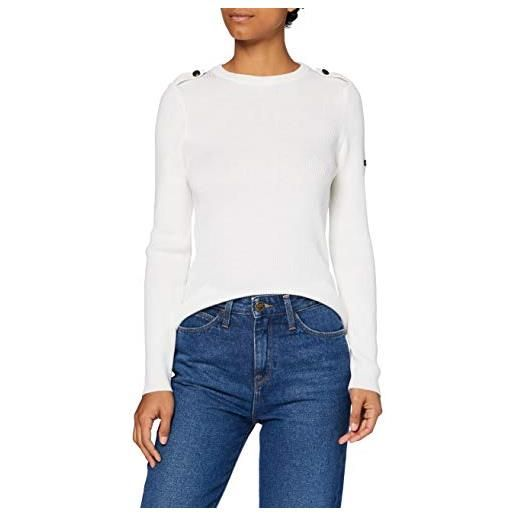 Armor Lux pull marin redon femme pullover, latte, s donna