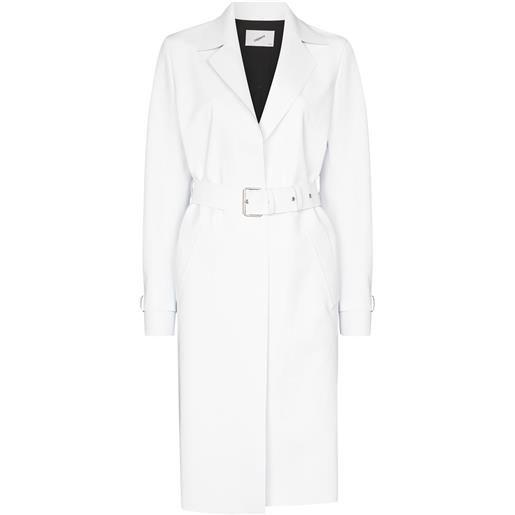Coperni cappotto con cintura trompe-l'œil - bianco