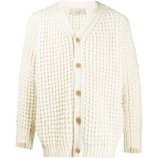 Maison Flaneur cardigan - bianco