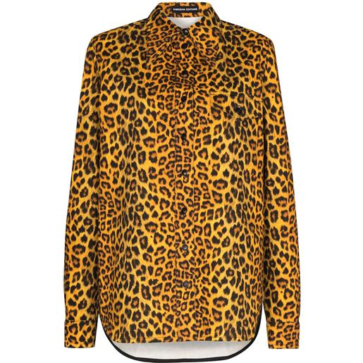 Kwaidan Editions camicia denim con stampa - giallo