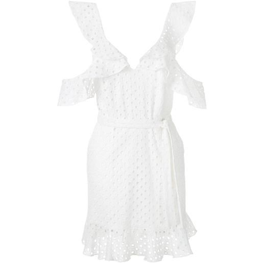 Olympiah vestito orchid laise - bianco