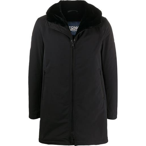 Herno cappotto corto con cappuccio - nero