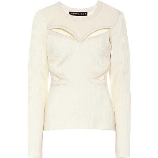 Y/PROJECT pullover in misto lana con cut-out