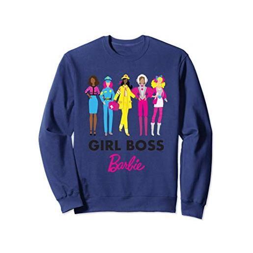 Barbie felpa Barbie da donna, ufficiale, il capo, multicolori felpa