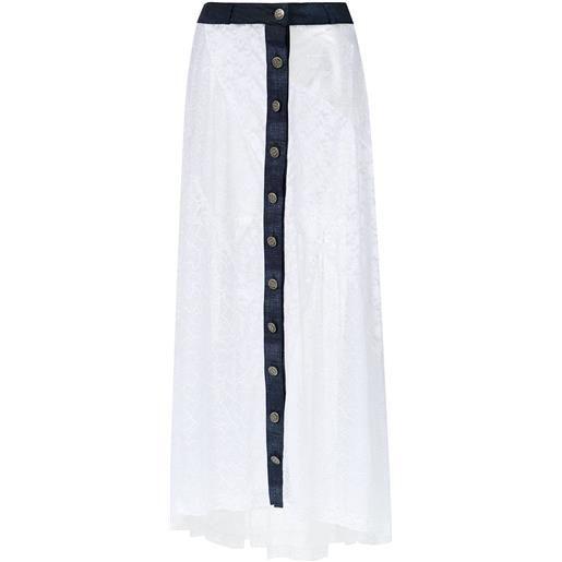 Amir Slama long lace skirt - bianco