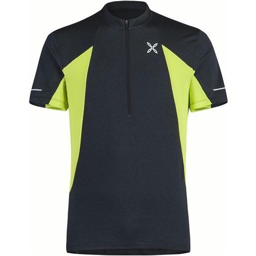 Montura maglietta manica corta track m anthracite / lime green