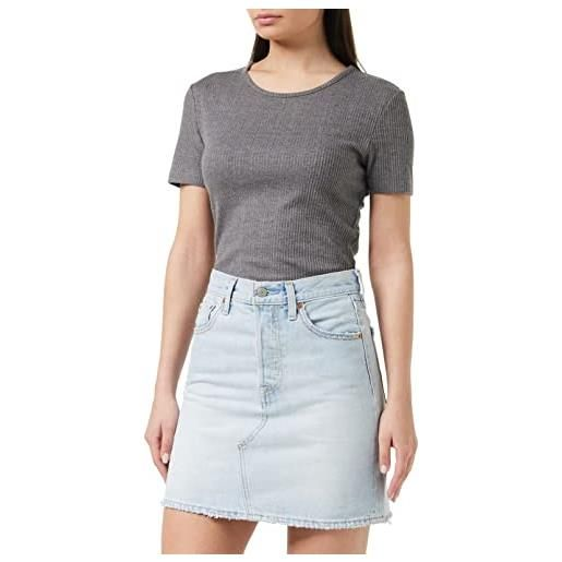 Levi's high rise deconstructed iconic button fly skirt gonna, check ya leather, 27 donna