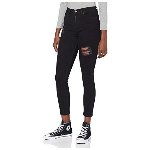 Gianni Kavanagh black core ripped jeans, nero, m donna