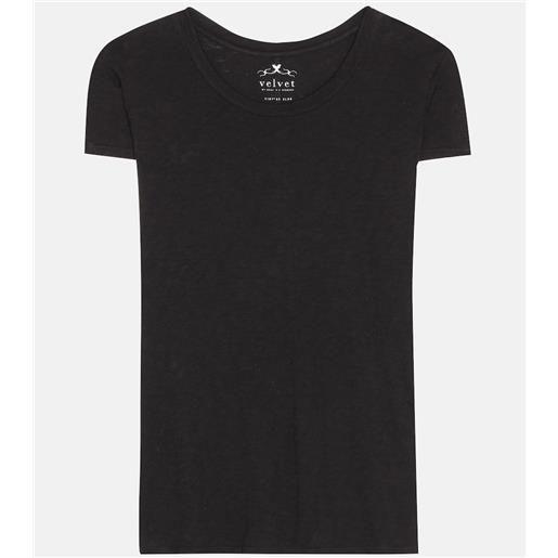 Velvet t-shirt odelia in cotone