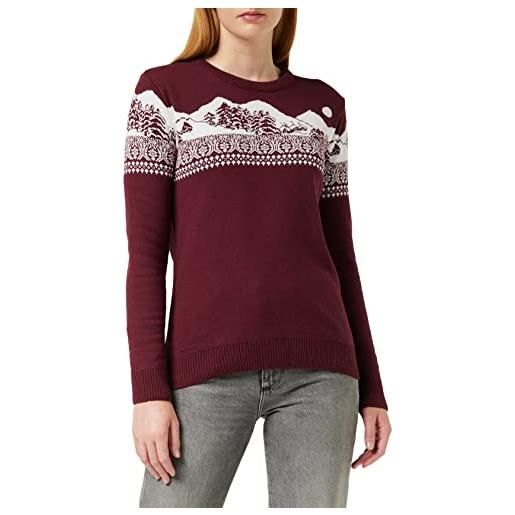 British Christmas Jumpers wonderland womens eco christmas jumper pullover, rosso, m donna