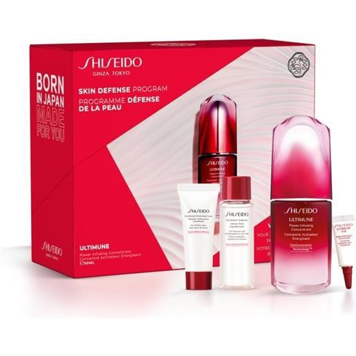 Shiseido cofanetto skin defence program - siero viso+siero contorno occhi+attivatore+detergente