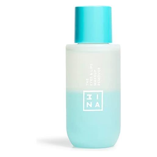 3ina vegano - cruelty free - the eyes & lips makeup remover - struccante bifasico delicato viso e occhi waterproof - idratante - per tutti i tipi di pelle