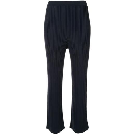 Dion Lee pantaloni crop a vita alta - blu