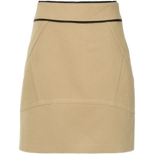 Olympiah pumacahua a-line skirt - marrone