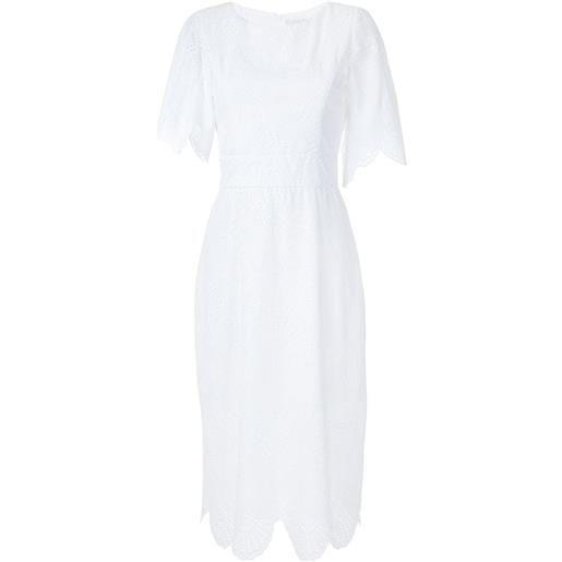 Olympiah vestito midi nielle - bianco