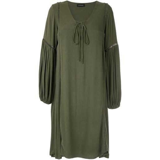 Olympiah abito con maniche ampie hagia - verde