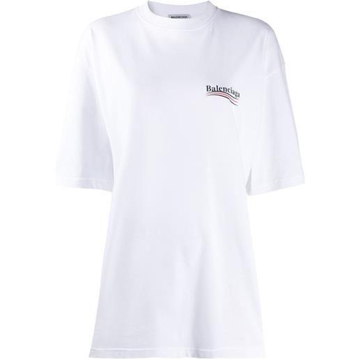 Balenciaga t-shirt con stampa - bianco
