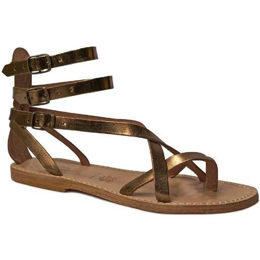 Gianluca - L'artigiano del cuoio sandali gladiatore fatti a mano in pelle laminata bronzo 564 d lam-bronzo