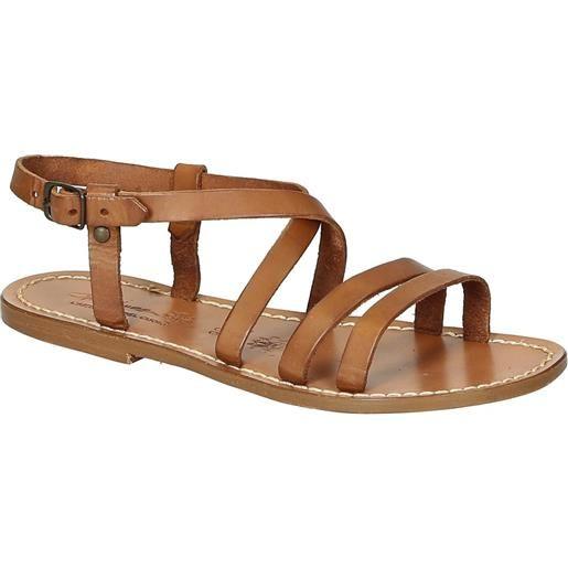 Gianluca - L'artigiano del cuoio sandali donna in cuoio fatti a mano 531 d cuoio