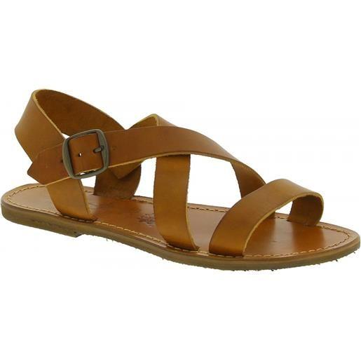 Gianluca - L'artigiano del cuoio sandali alla francescana donna in pelle color cuoio artigianali 508x d cuoio