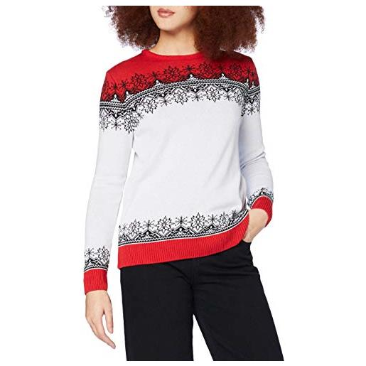 British Christmas Jumpers vintage classic womens eco christmas jumper pullover, rosso, s donna
