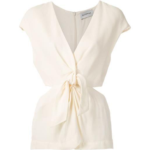 Olympiah blusa magnolia con nodo - bianco