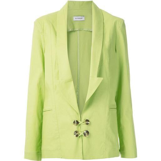 Olympiah blazer bryone con scollo profondo - verde