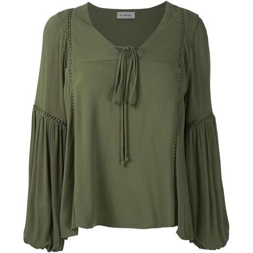 Olympiah blusa con maniche ampie hagia - verde