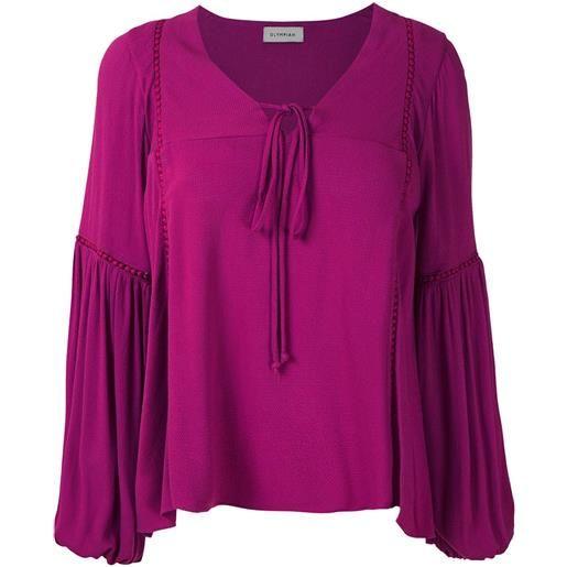 Olympiah blusa con maniche ampie hagia - rosa