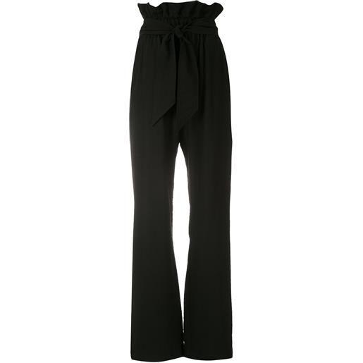 Olympiah pantaloni laurier con vita raccolta - nero