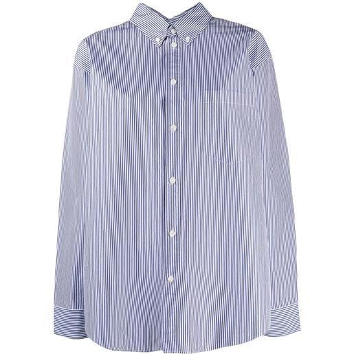Balenciaga camicia a righe - nero