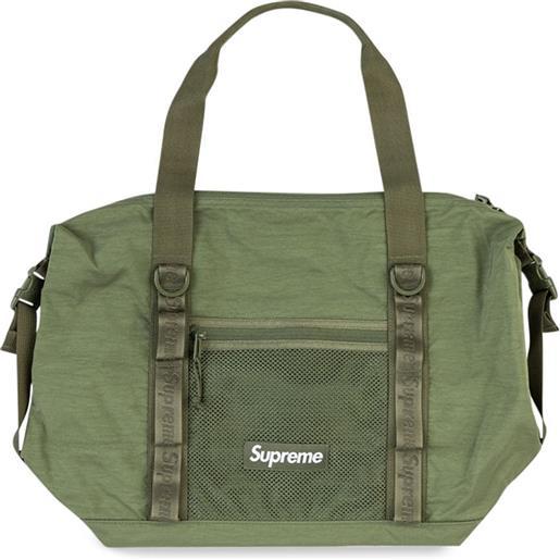 Supreme borsa tote con zip - verde