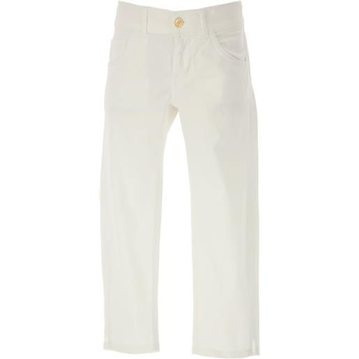 Dondup pantaloni bambino in outlet, bianco, cotone, 2021, 12y 6y