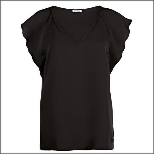 Oroblu blouse manica ad aletta tinta unita solid color donna oroblu