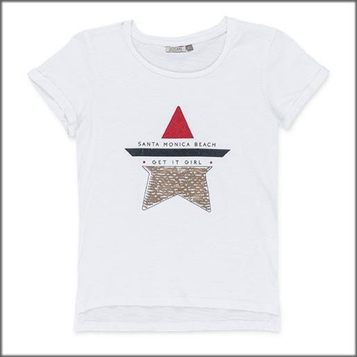 LOSAN t-shirt manica corta di cotone 1029 donna LOSAN