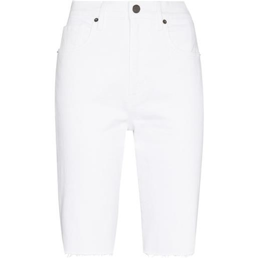 FRAME shorts denim al ginocchio - bianco
