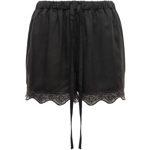 """UNDERPROTECTION shorts """"carry"""" in raso e pizzo"""