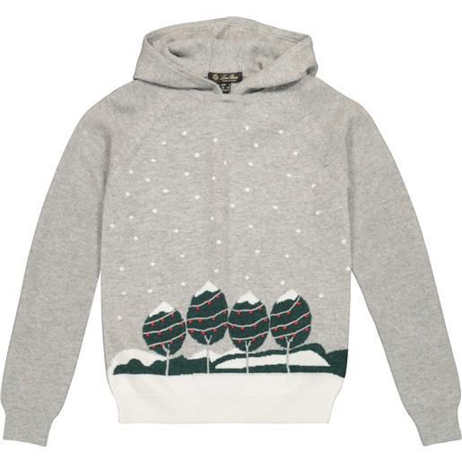 Loro Piana Kids pullover snowy city in cashmere