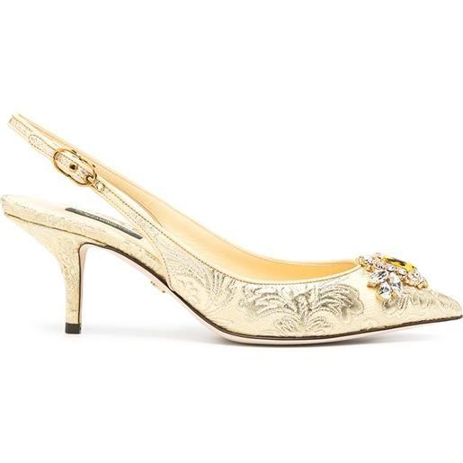 Dolce & Gabbana pumps jacquard - giallo