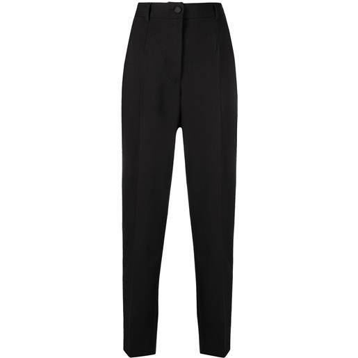 Dolce & Gabbana pantaloni sartoriali a vita alta - nero