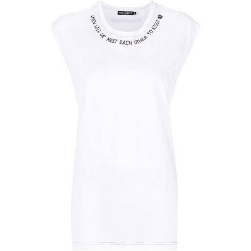 Dolce & Gabbana canotta con stampa - bianco