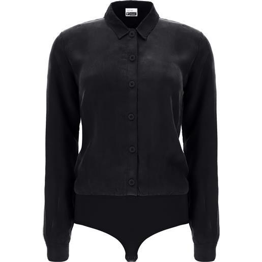 Freddy body con top a camicia nero