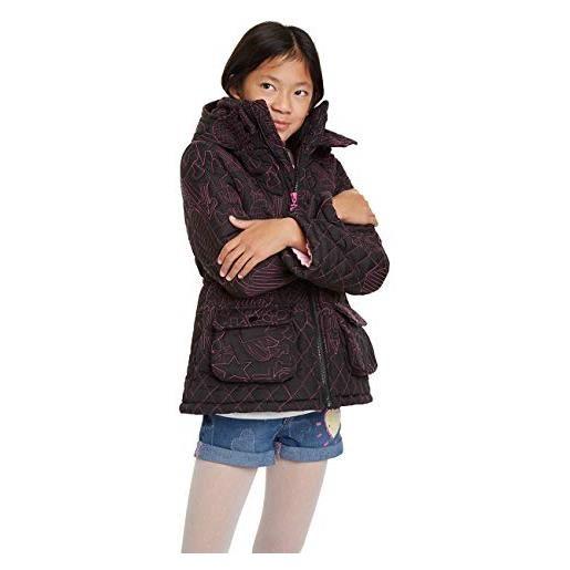 Desigual coat clementina cappotto, nero (negro 2000), 164 bambina