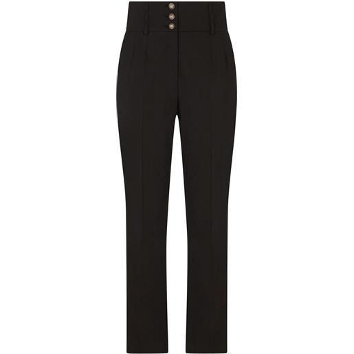Dolce & Gabbana pantaloni a vita alta - nero