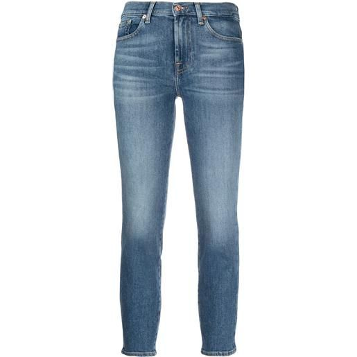7 For All Mankind jeans skinny crop - blu